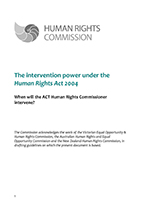Front page of Guide featuring Human Rights Commission logo