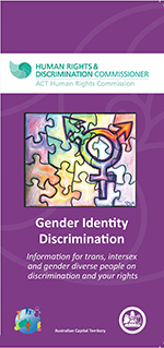 Picture of front of gender identity brochure with an image of a jigsaw puzzle